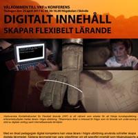 Konferens – Digitalt innehåll skapar flexibelt lärande