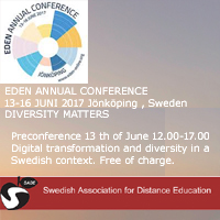 Welcome to SVERDs EDEN Pre conference Tuesday 13 th of June time 12.00-17.00 in Jönköping