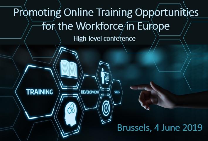 Inbjudan Promoting Online Training Opportunities for the Workforce in Europe, Brussels 4 June 2019