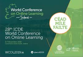 ICDE WCOL2019, Transforming Lives and Societies. Dublin Irland