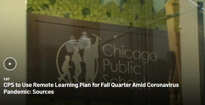Offentliga skolor i Chicago läser på distans till november
