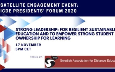 SVERD är värd för ICDE Satellits event 2020